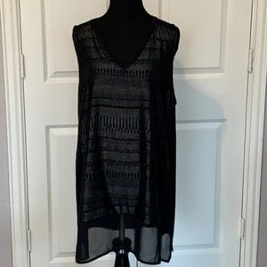 Shimmer tunic Tank Top black silver sparkle